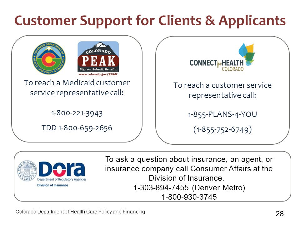28 Customer Support for Clients & Applicants To ask a question about insurance, an agent, or insurance company call Consumer Affairs at the Division o