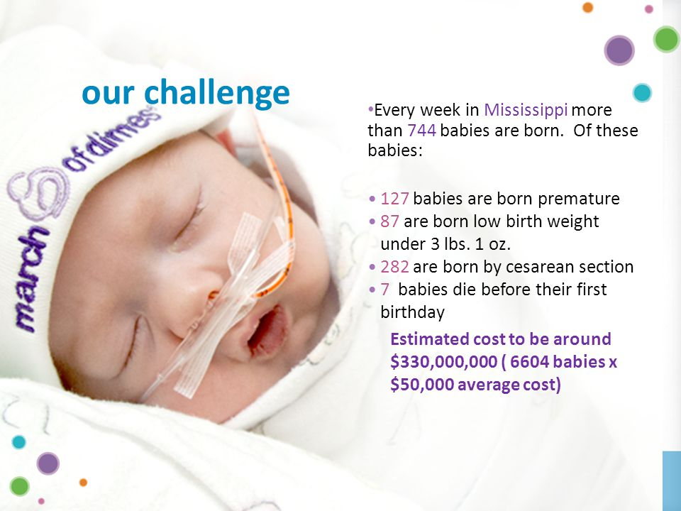 OFFICE OF THE GOVERNOR | MISSISSIPPI DIVISION OF MEDICAID6 Every week in Mississippi more than 744 babies are born.