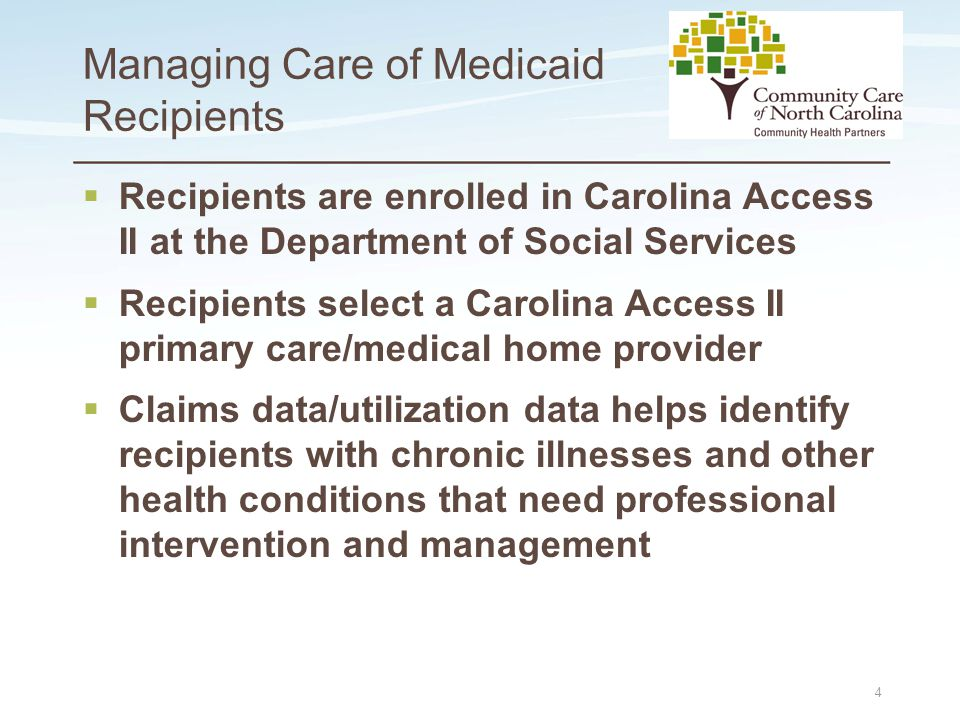 Place logo here Place logo here Medical Necessity Reviews Pilot  Medicaid criteria for PCS established by Medicaid clinical policy  86% of the 313 referrals for PCS- patients did not meet the Medicaid criteria for the service 45 PCS is not a house- cleaning service