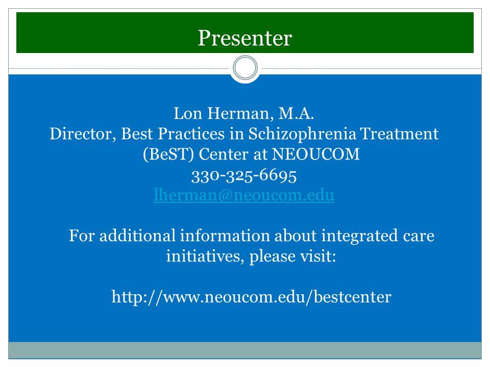 Presenter Lon Herman, M.A.