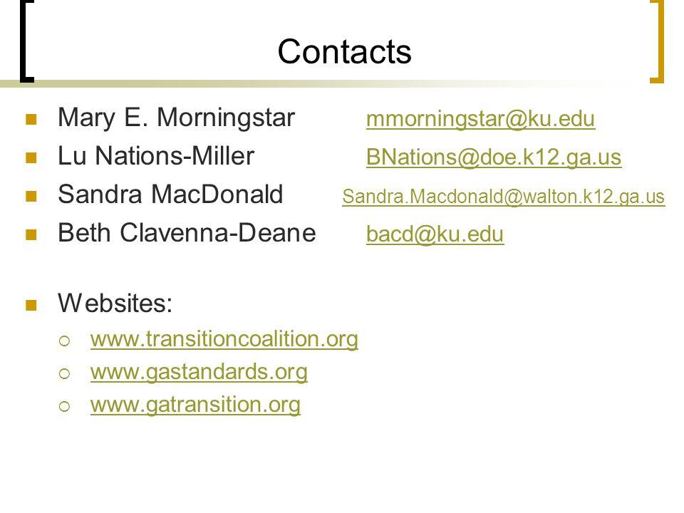 Contacts Mary E.