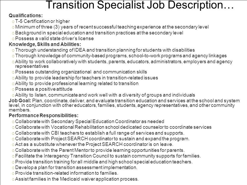 KU TransCert: Do Transition Coordinators Make A Difference.