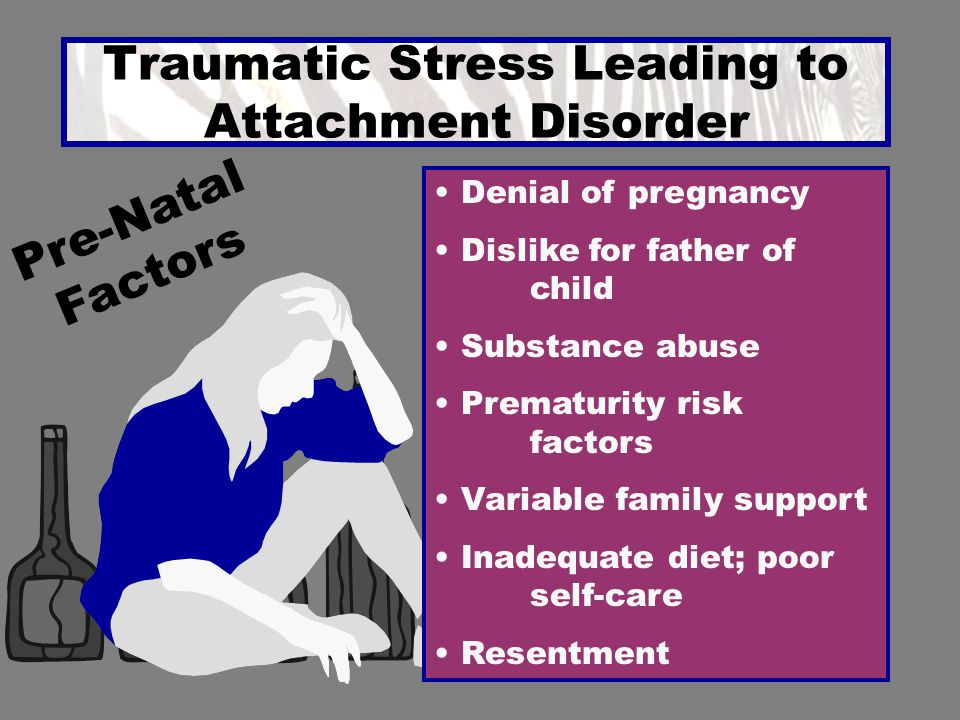 ATTACHMENT DISORDER Parental Response Cycle The cycle is solely dependent on adult reactions Child's response is directly relevant to degree of adult's commitment & amount of consistency in terms of non- abusive or rejecting reactions Building Trust Capabilities Unpleasant Arousal CONFUSION Need RAGE Consistent Inconsistency COMMITMENT NON ABUSIVE Support Response Supportive Control