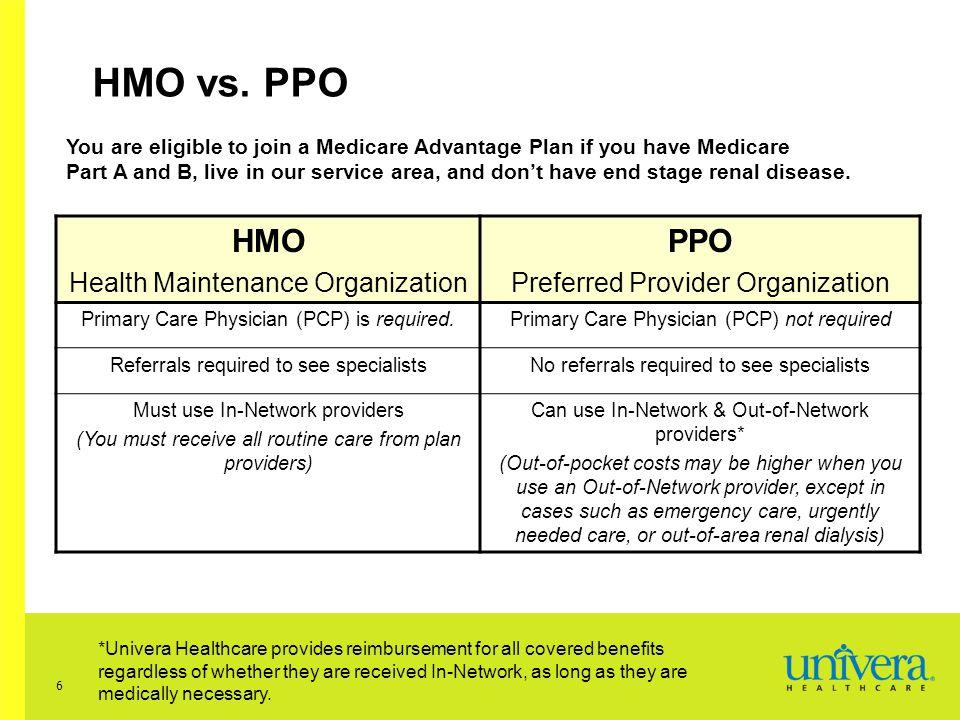 6 HMO vs.