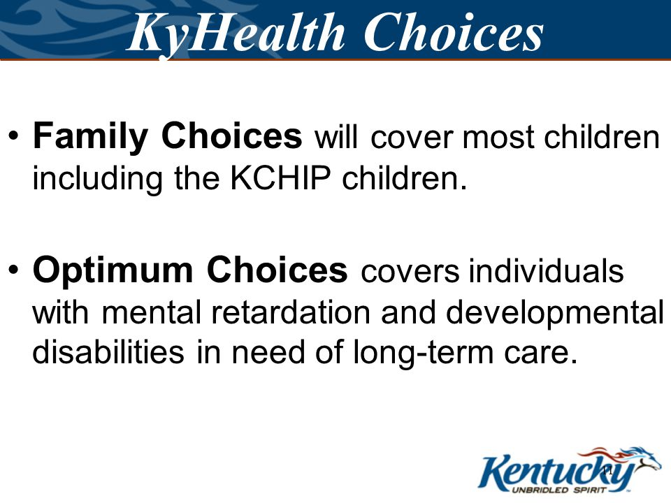 10 Benefit Plans KyHealth Choices