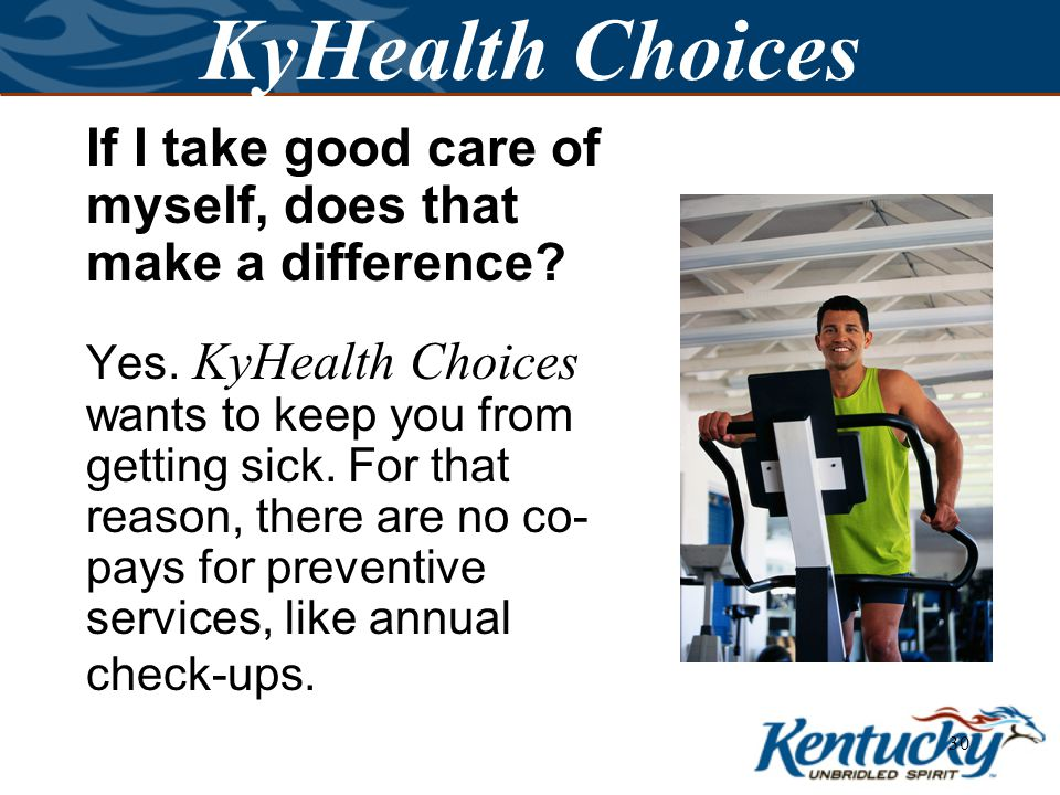 29 KyHealth Choices How do I know which service has a co-pay.