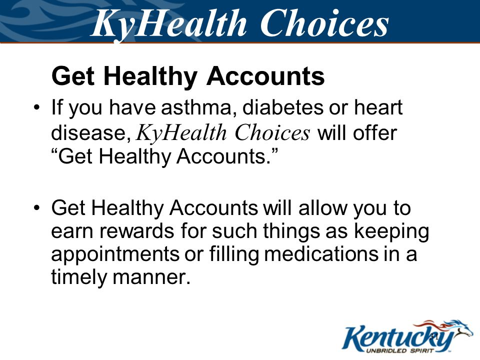 30 KyHealth Choices If I take good care of myself, does that make a difference.