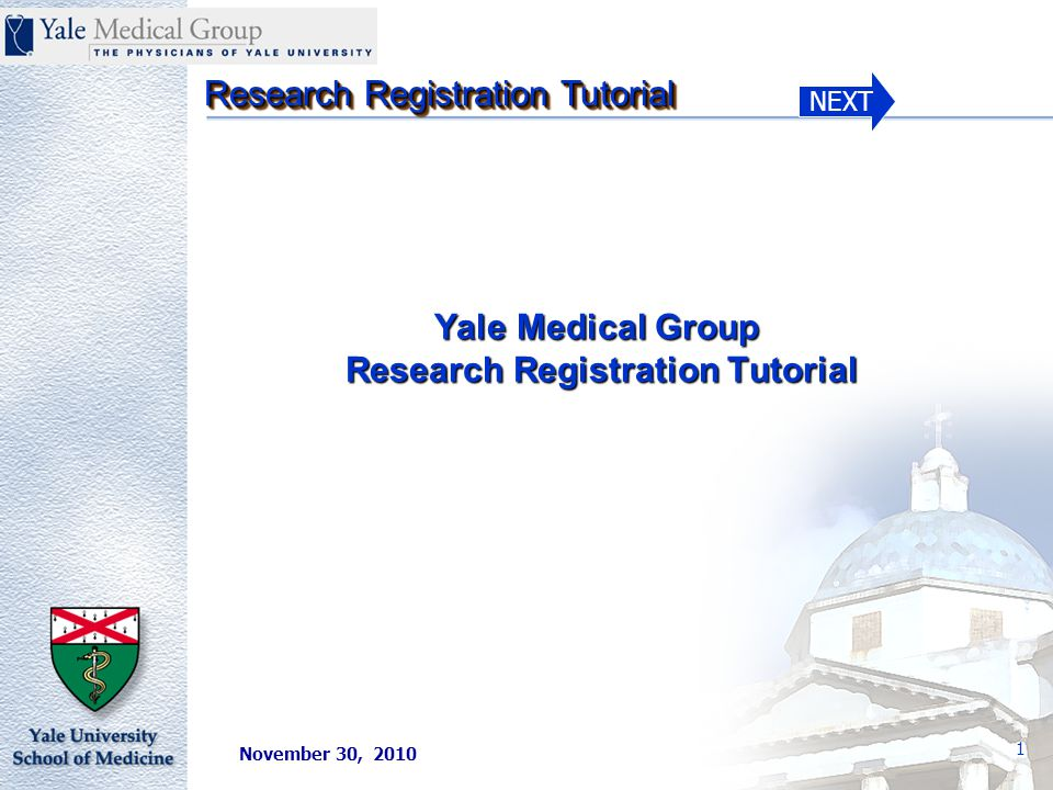 NEXT Research Registration Tutorial 42 Notification of Patient Enrollment/Term/Complete in a Clinical Study in GE/IDX 11100.FM.B Section II Effective date – the date the patient was enrolled in a research study.