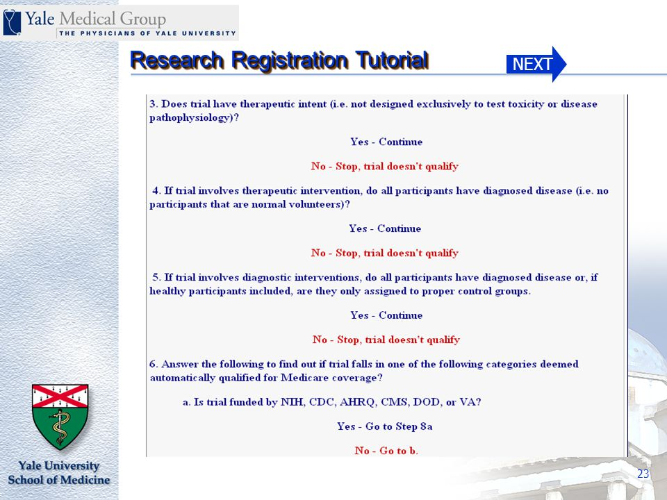 NEXT Research Registration Tutorial 23