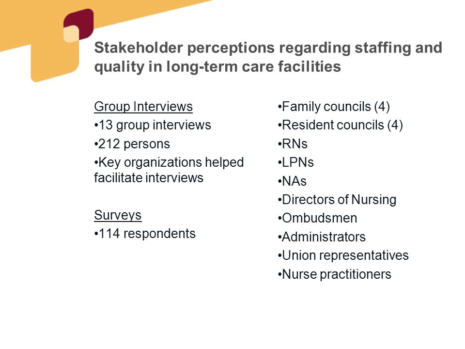 Two Primary Questions What are the greatest concerns you have with staffing in nursing homes.