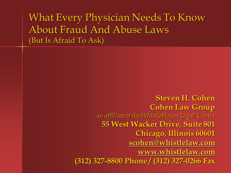 I.What Do Fraud And Abuse Laws Cover?