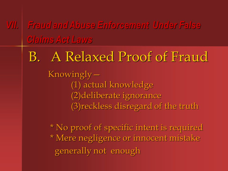 B. A Relaxed Proof of Fraud VII.