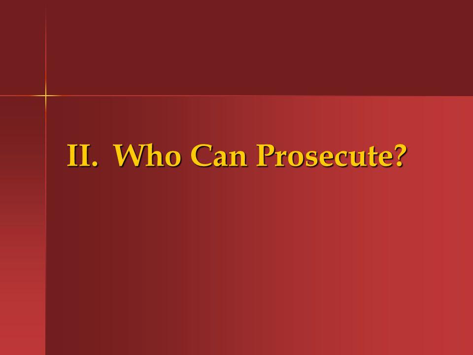 G.Criminal False Claims Statutes (cont.) VI.