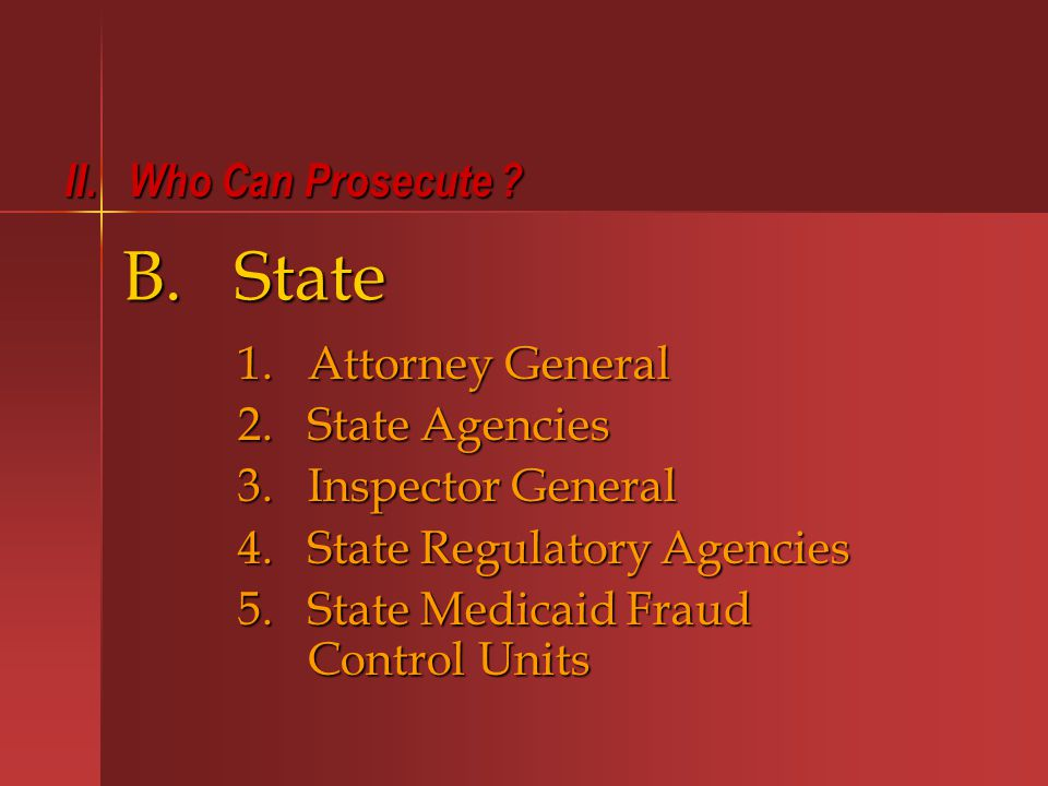 I.Administrative Rules and Regulations and Regulations (Federal and State) (Federal and State) VI.