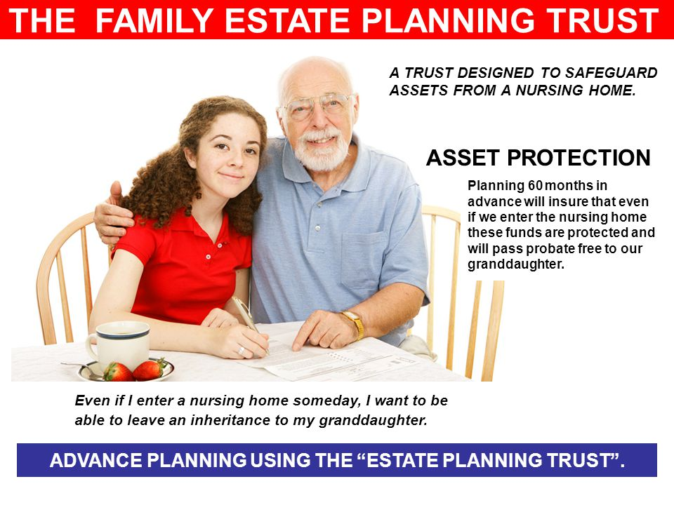 THE FAMILY ESTATE PLANNING TRUST A TRUST DESIGNED TO SAFEGUARD ASSETS FROM A NURSING HOME.