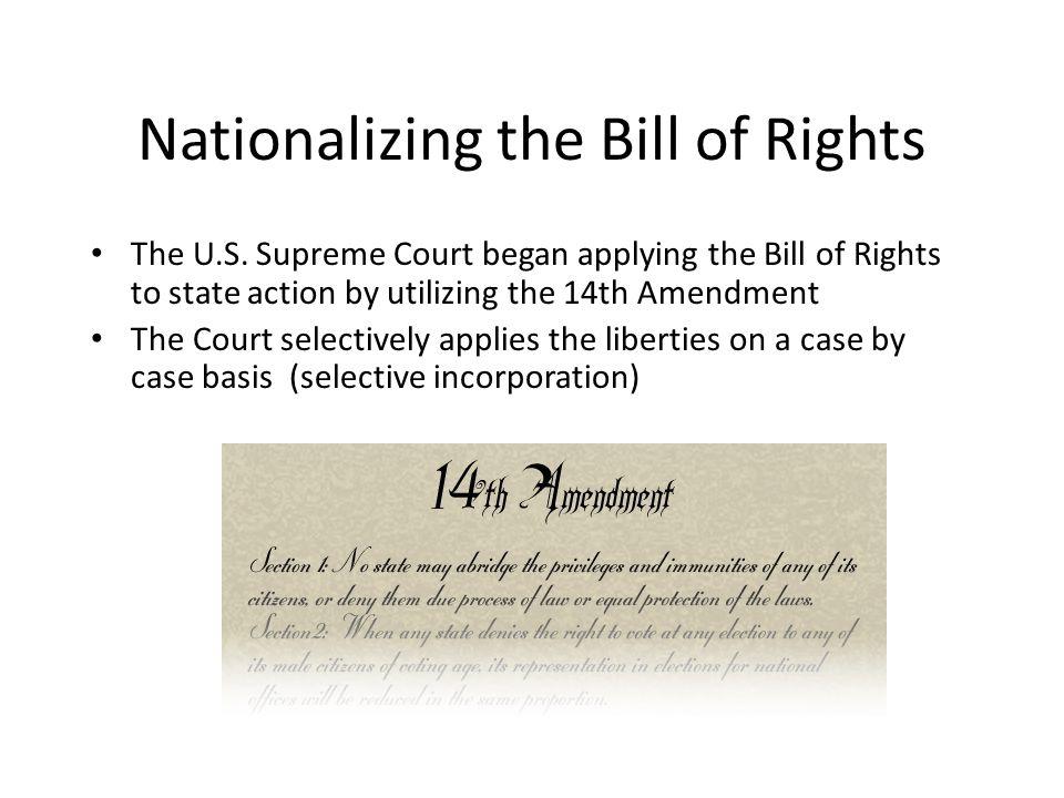The First Amendment: Freedom of Speech Congress shall make no law...