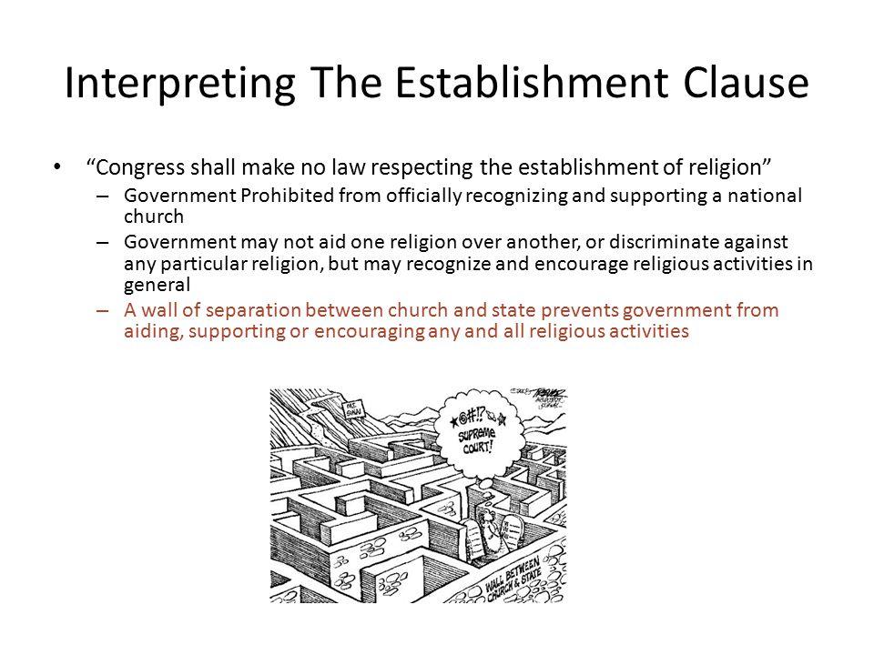 What Constitutes Establishment.
