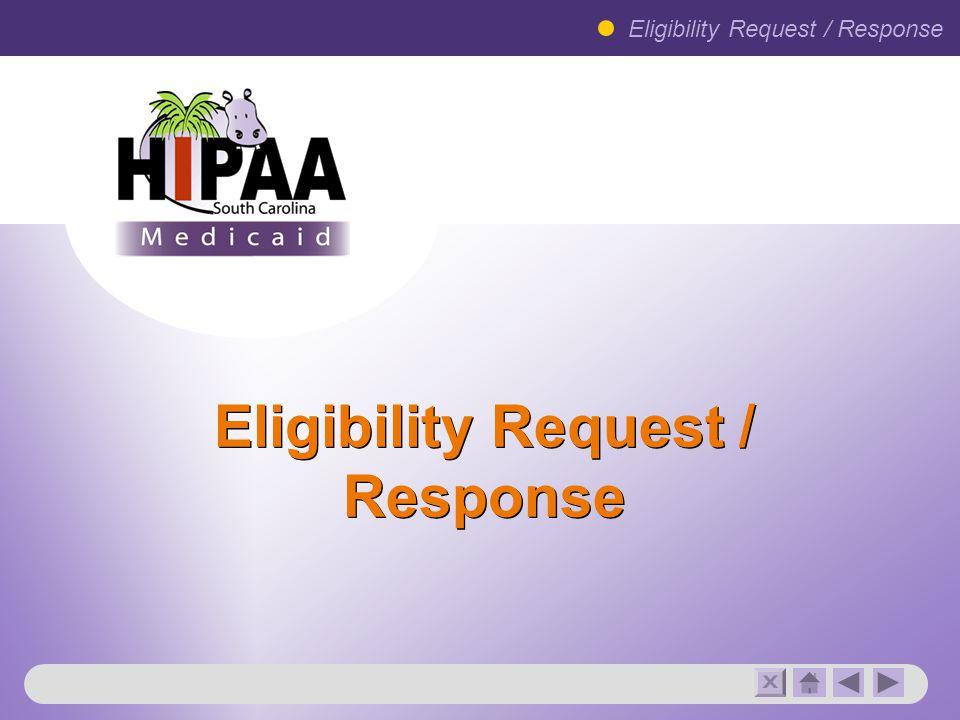 Eligibility Request / Response