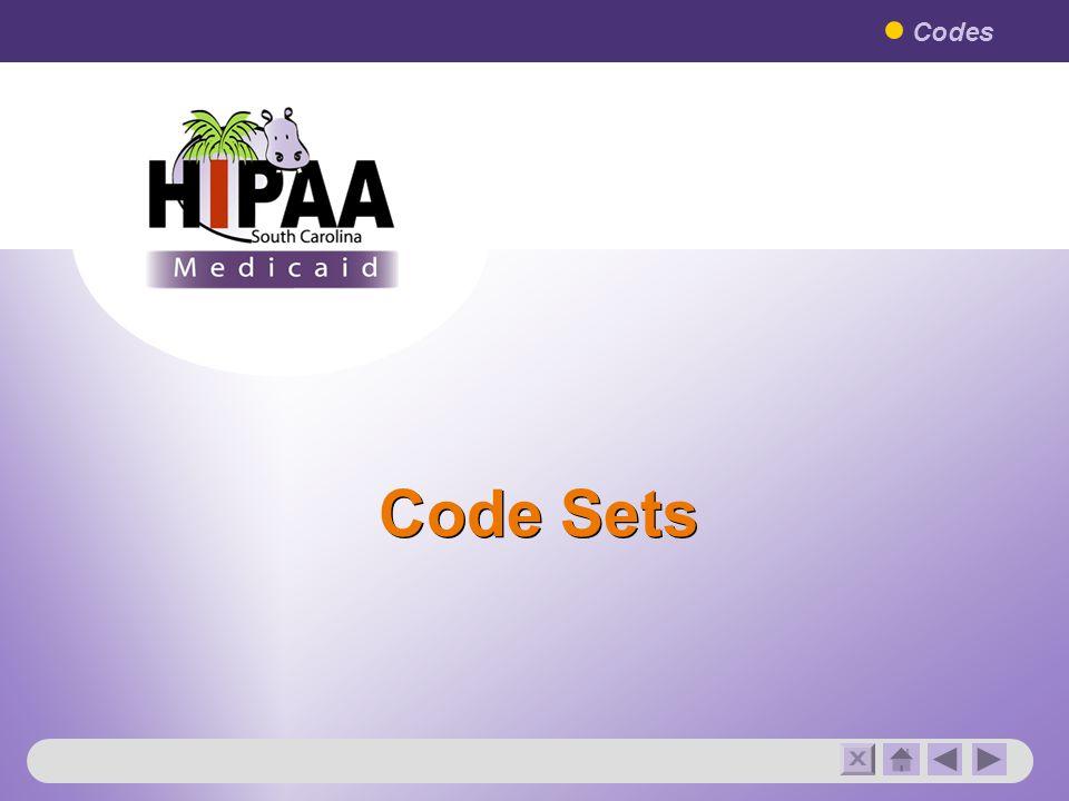 Code Sets Codes