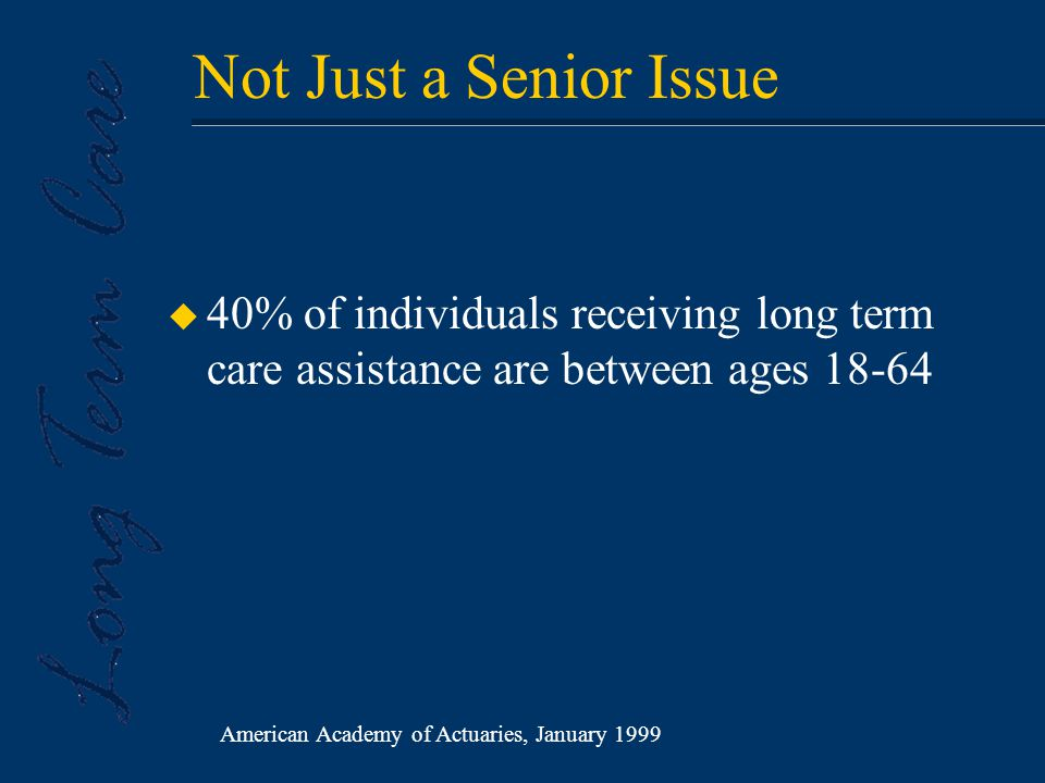 Why Is Long Term Care a Growing Concern?