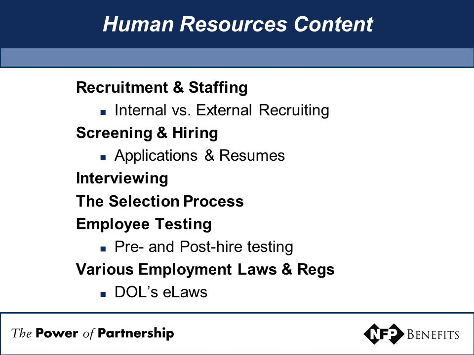 Human Resources Content Recruitment & Staffing Internal vs.