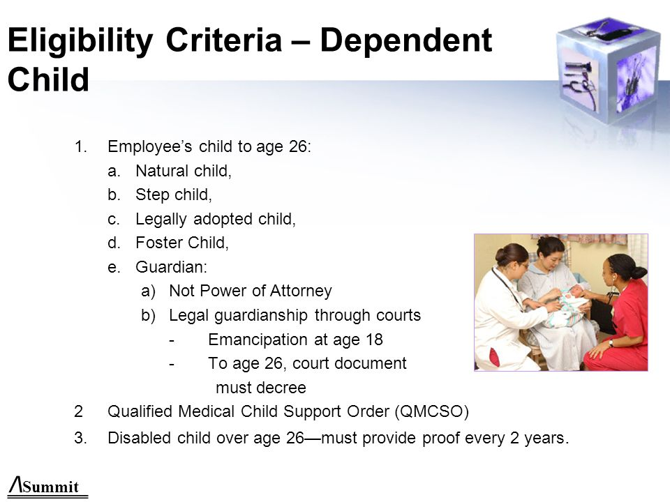 /\ Summit Eligibility Criteria – Dependent Spouse 1.Legal Spouse (State Law) 2.Common Law Spouse provided it meets legal requirements of Navajo Nation.