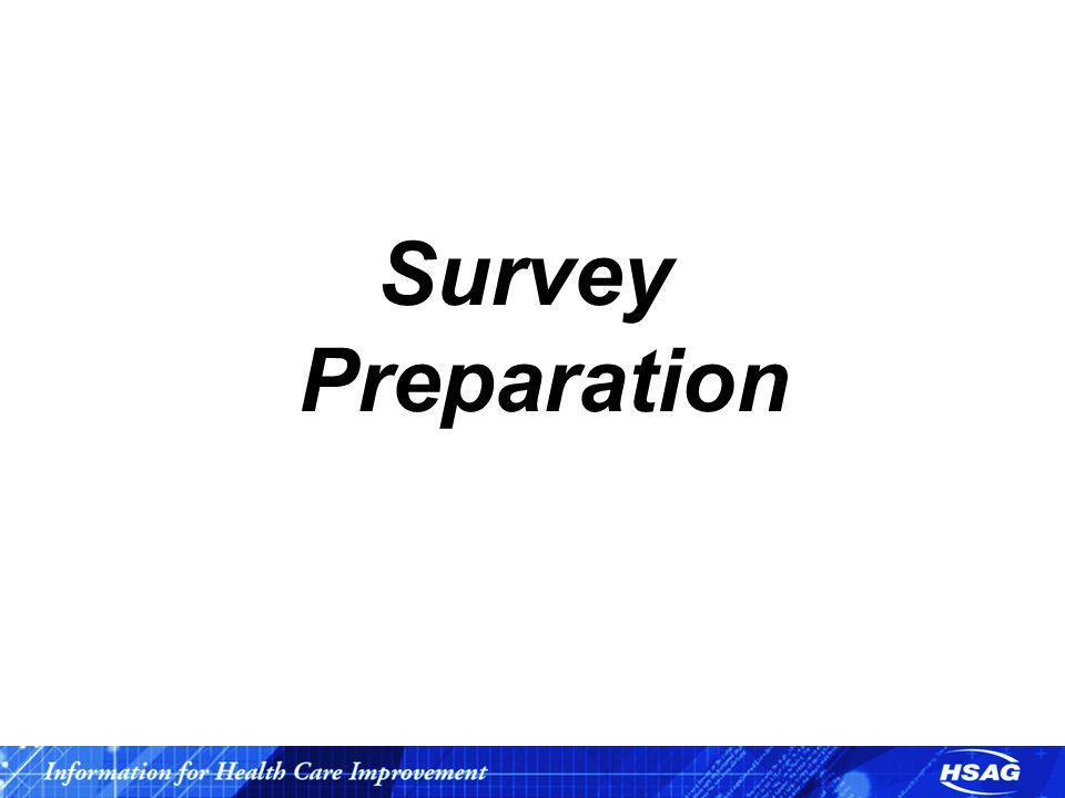 Survey Preparation