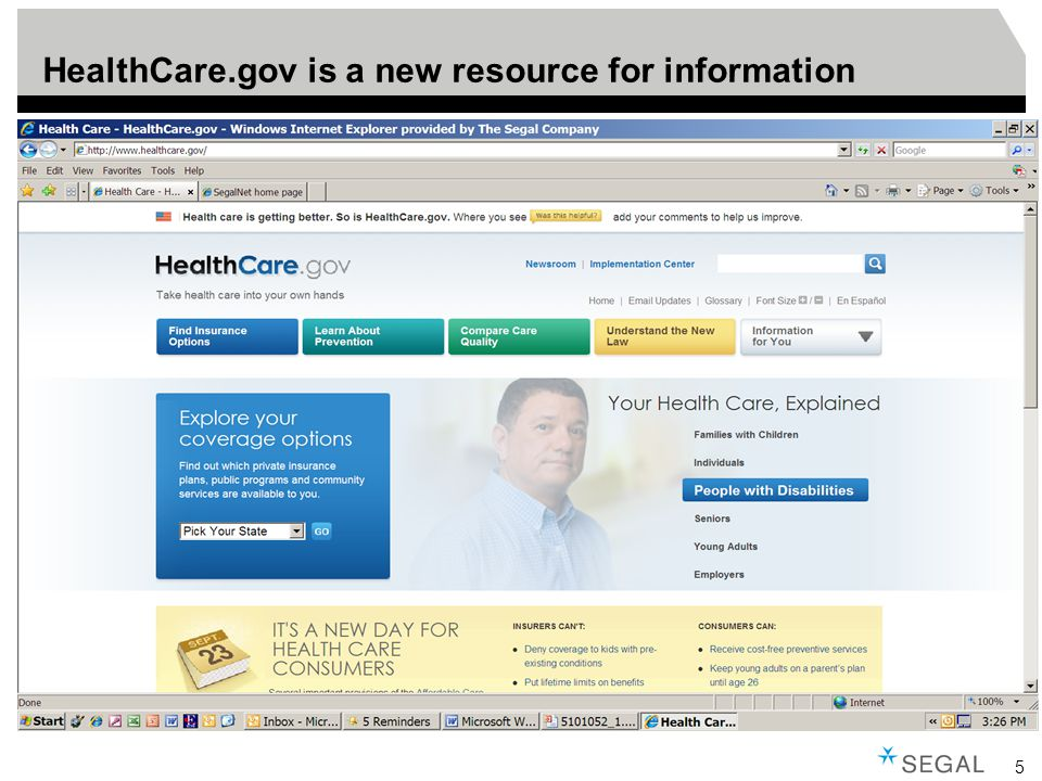 5 HealthCare.gov is a new resource for information