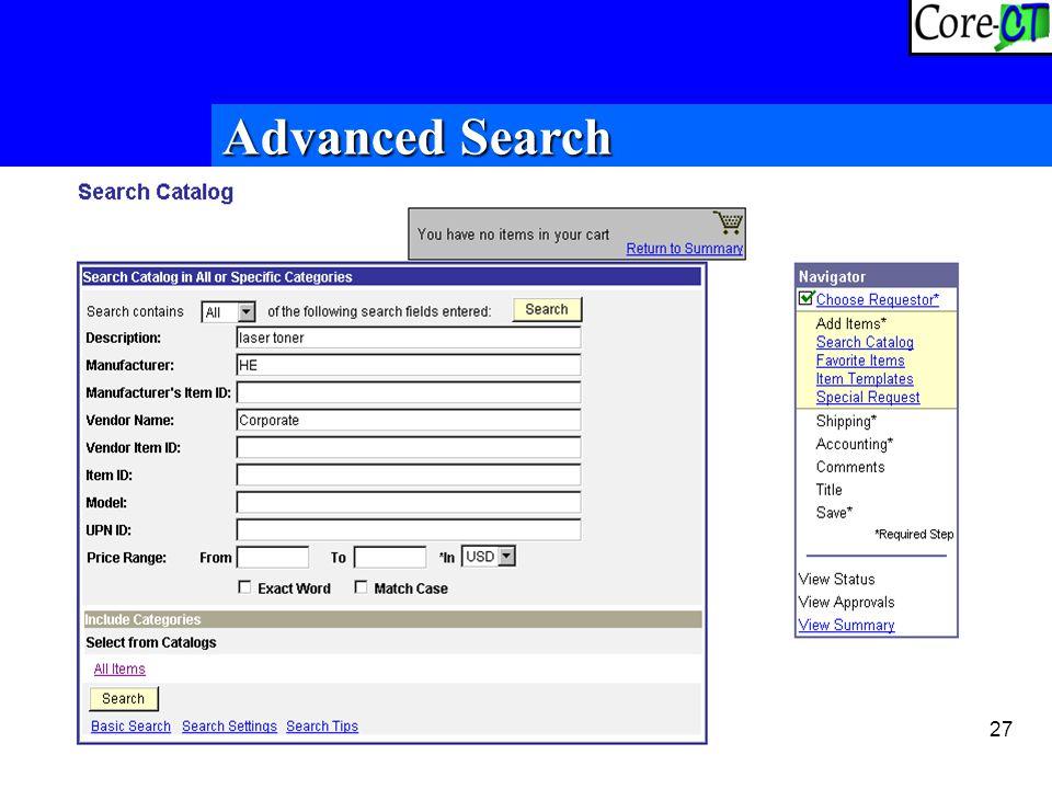 27 Advanced Search