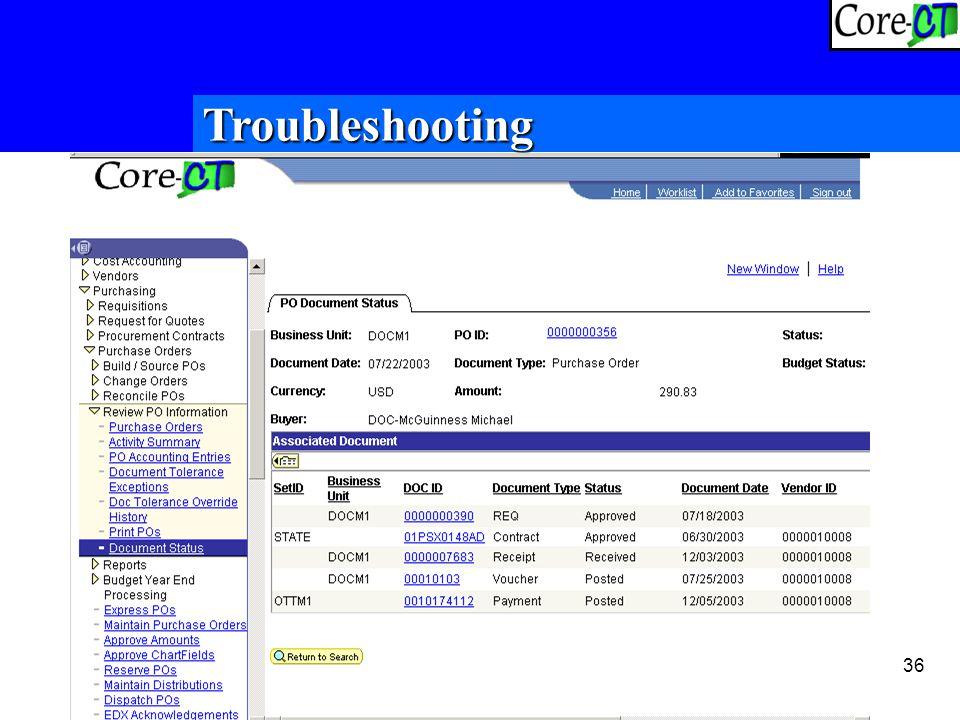 36 Troubleshooting