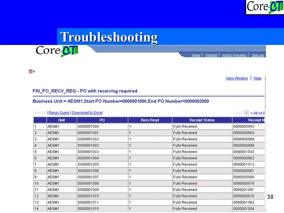38 Troubleshooting