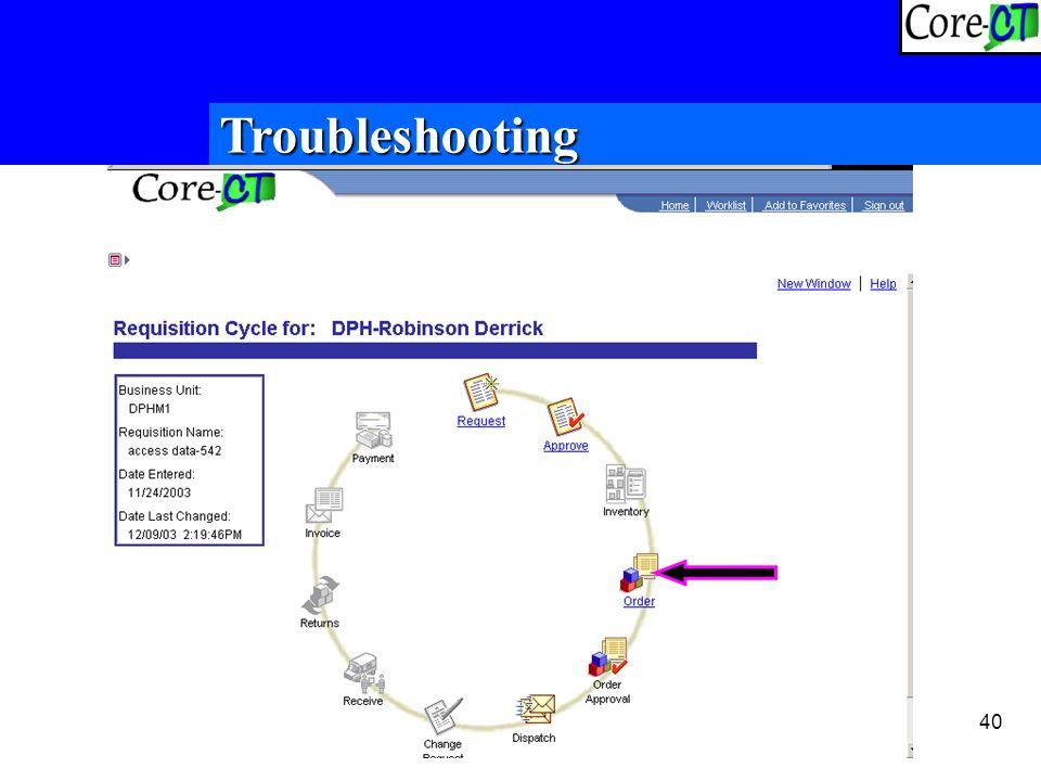 40 Troubleshooting