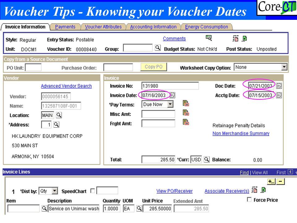 59 Voucher Tips - Knowing your Voucher Dates