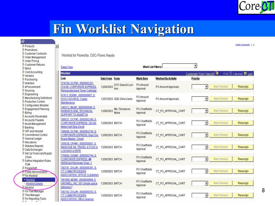 8 Fin Worklist Navigation