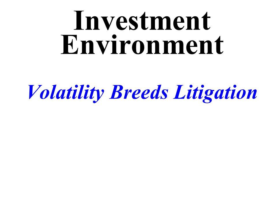 Investment Environment Volatility Breeds Litigation