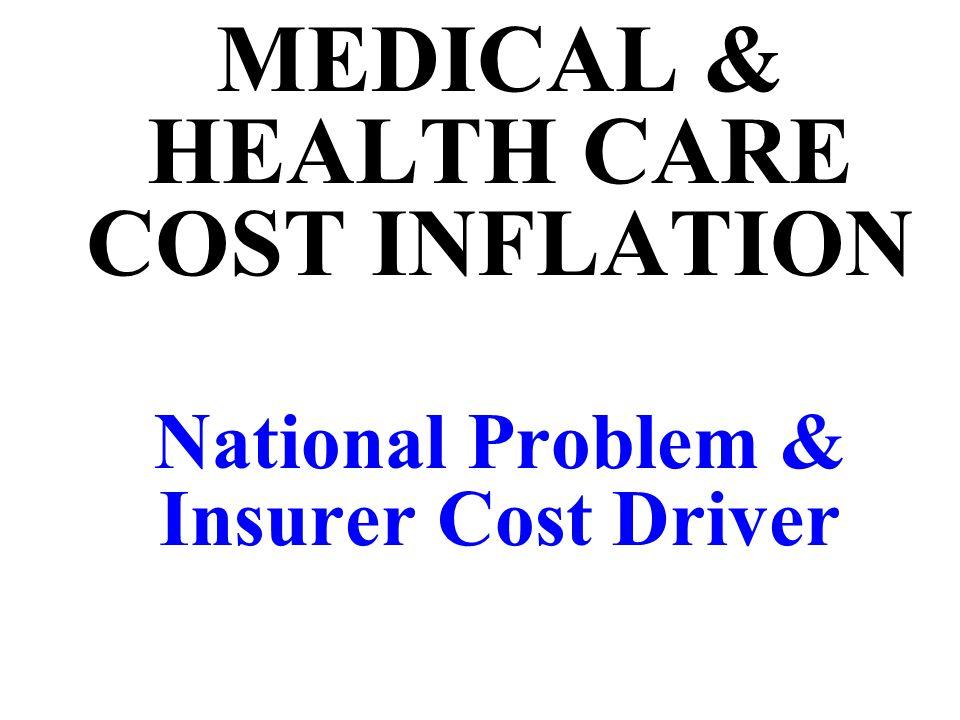 MEDICAL & HEALTH CARE COST INFLATION National Problem & Insurer Cost Driver