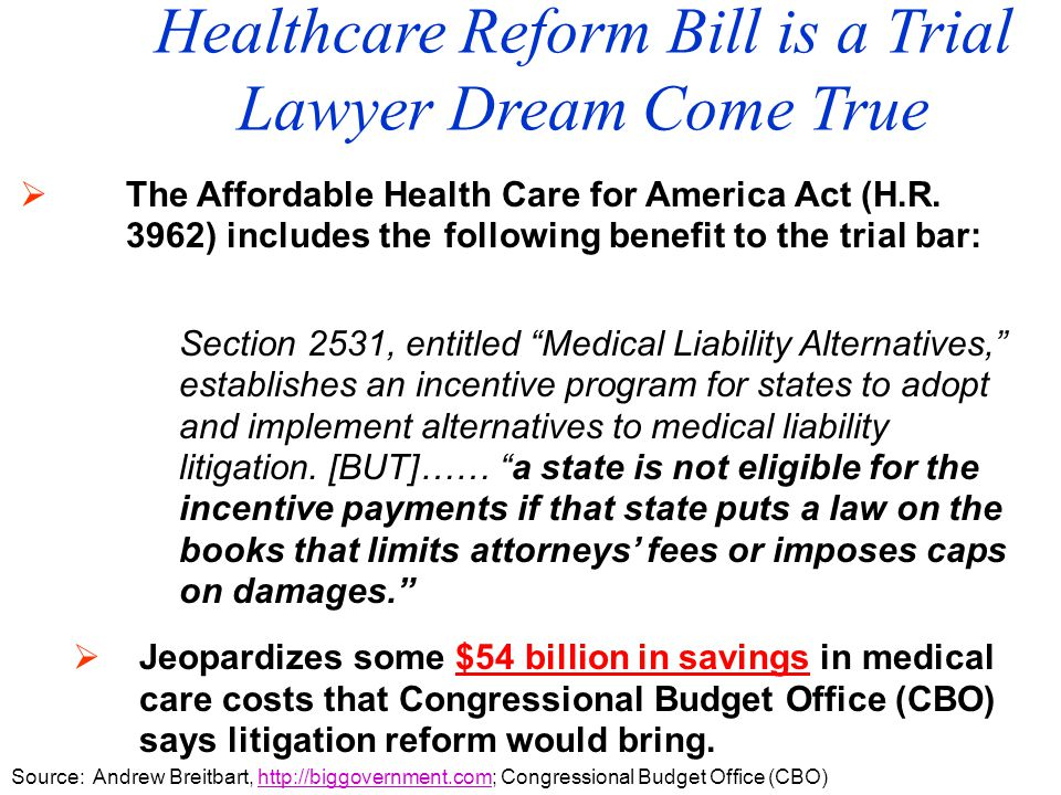  The Affordable Health Care for America Act (H.R.