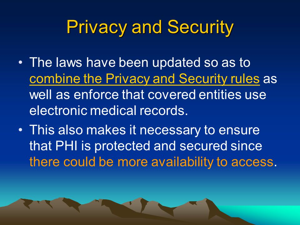Safeguard PHI. Secure PHI.