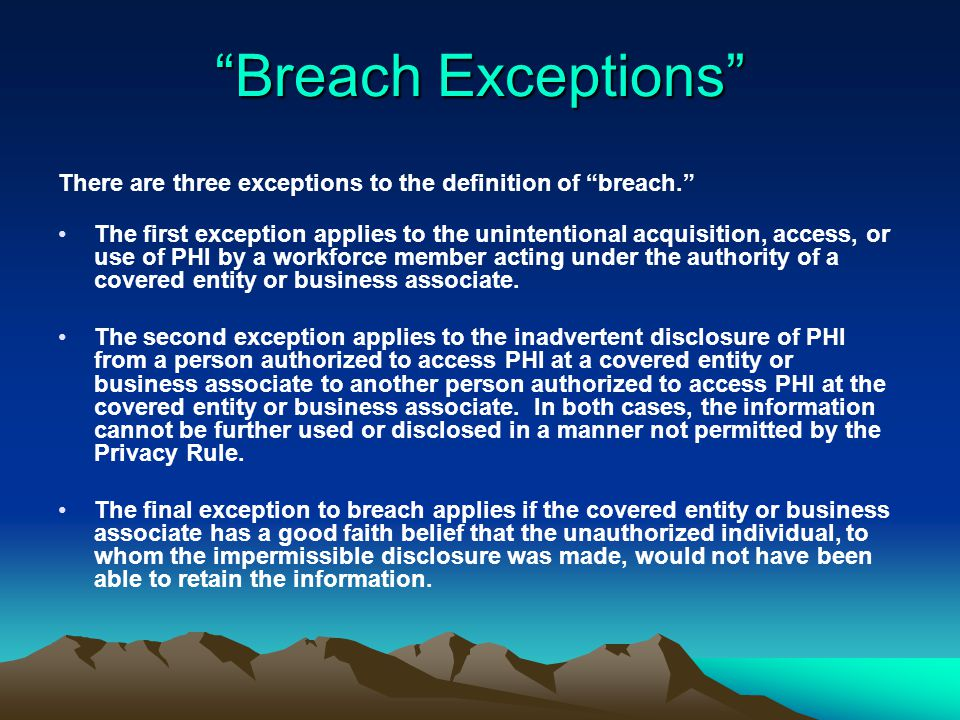 HITECH cont'd: HITECH is the first Federal breach notification law.