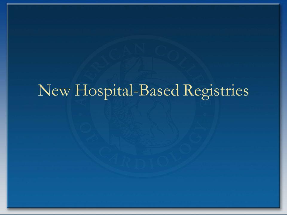 New Hospital-Based Registries