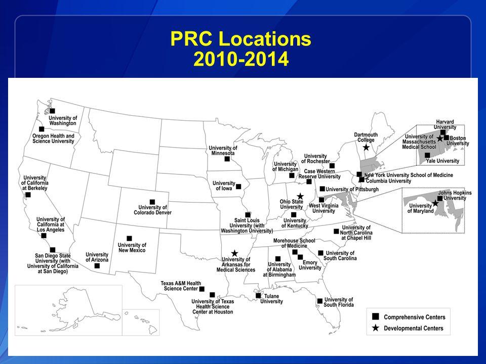 PRC Locations 2010-2014