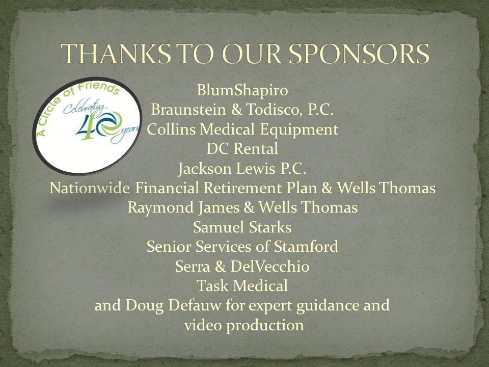BlumShapiro Braunstein & Todisco, P.C. Collins Medical Equipment DC Rental Jackson Lewis P.C.