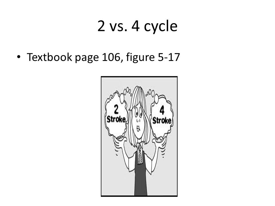 2 vs. 4 cycle Textbook page 106, figure 5-17