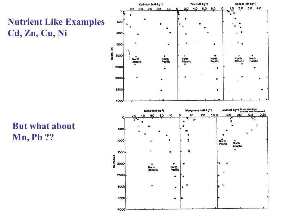 Nutrient Like Examples Cd, Zn, Cu, Ni But what about Mn, Pb ??