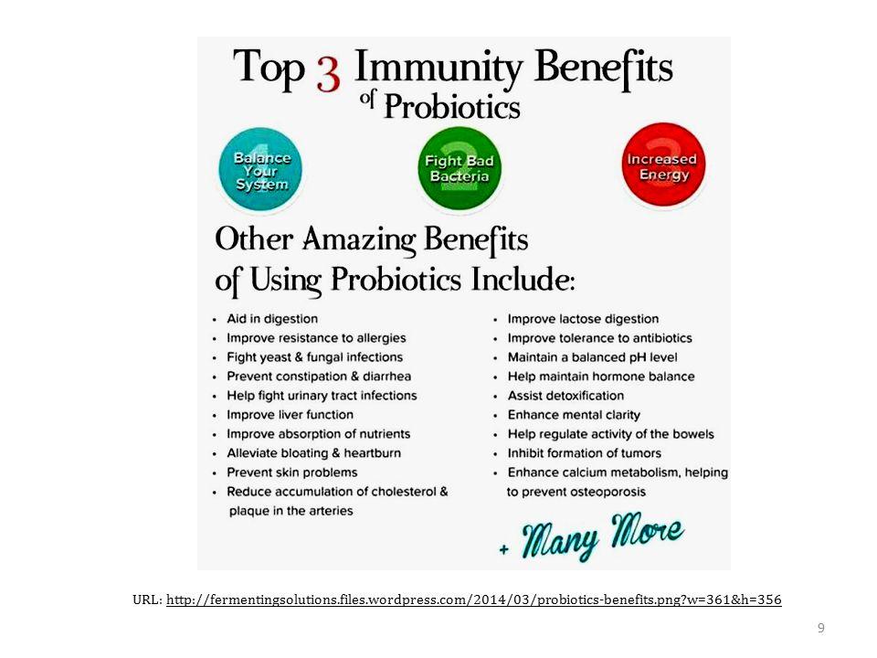 9 URL: http://fermentingsolutions.files.wordpress.com/2014/03/probiotics-benefits.png?w=361&h=356