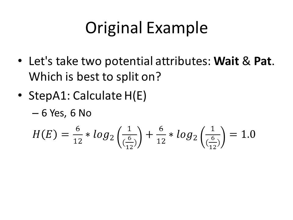 Original Example