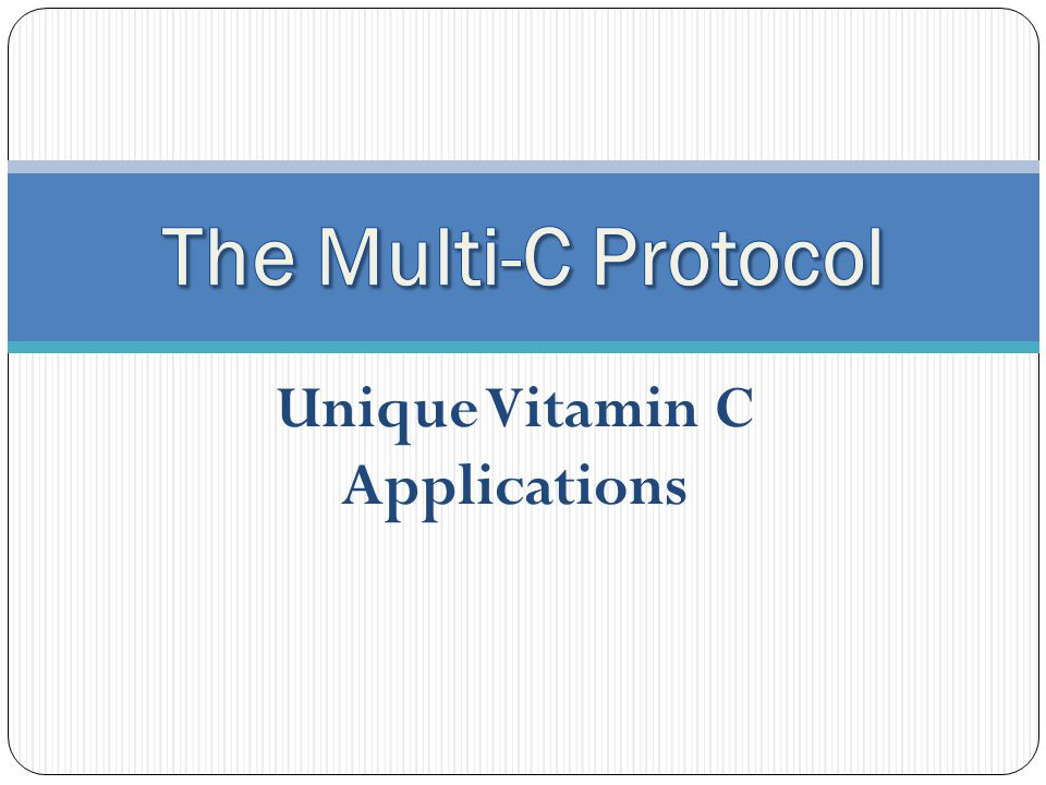 Vitamin C, Future Applications Medicine is either traditional, alternative, or a combination of both.