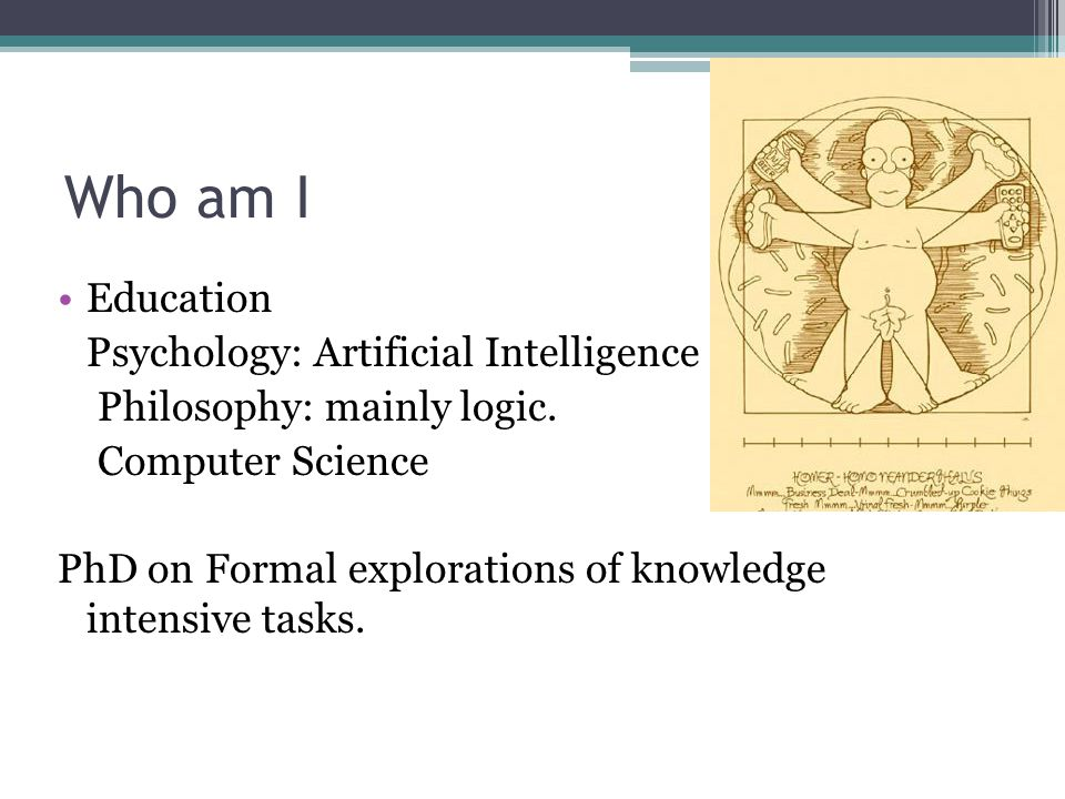 And now… Work: IPS, Getronics, UvA, VU (VL-e), Collexis, SARA Languages: Java, Prolog, and many more I try to forget.