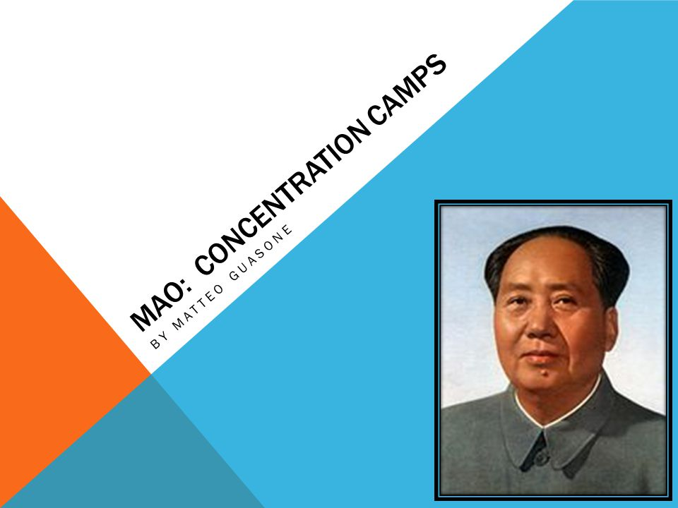 MAO: CONCENTRATION CAMPS BY MATTEO GUASONE