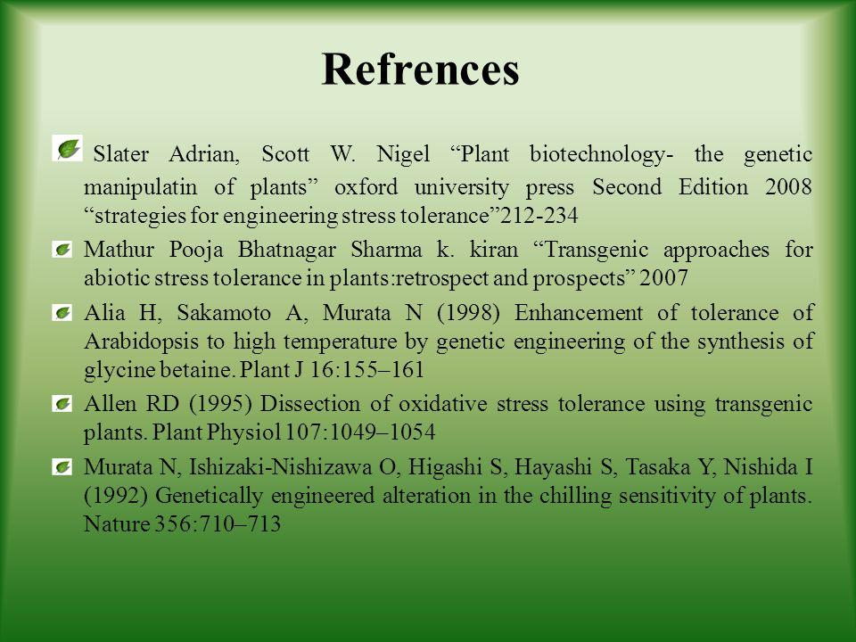 Refrences Slater Adrian, Scott W.